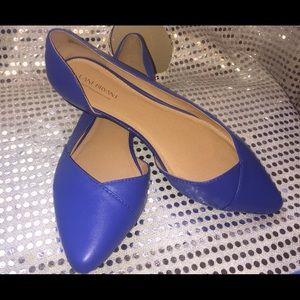 Lane Bryant blue flats size 12